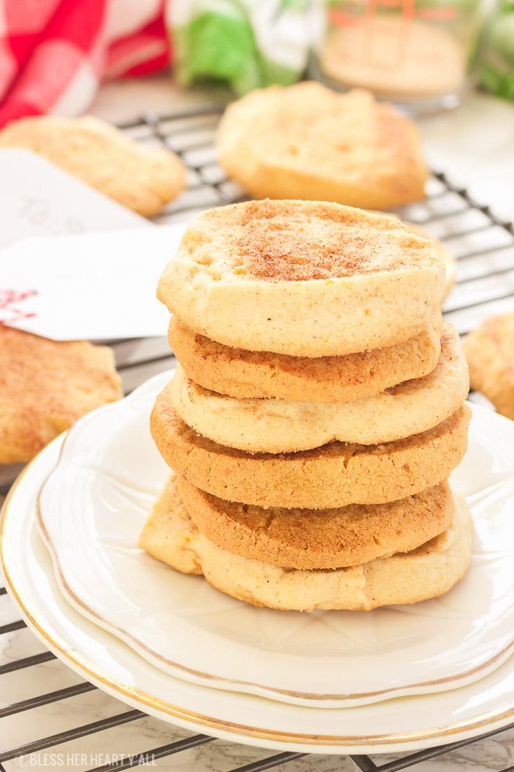 Georgia Peach Snickerdoodle Cookies – Gluten Free