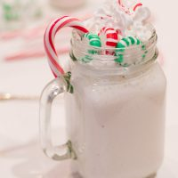 3-Ingredient Skinny Peppermint Stick Milkshake