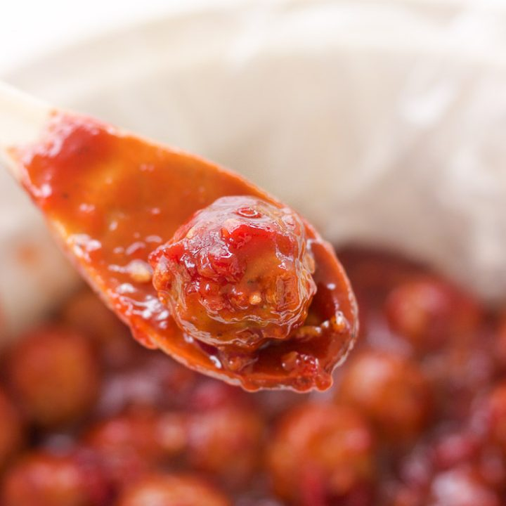 Cranberry Meatballs with Spicy Bacon BBQ Meatballs