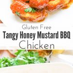 Georgia Gold Chicken Recipe is both gluten free and completely baked and is KFC Inspired. Lightly breaded chicken pieces are dunked in a Georgia honey barbeque sauce and then baked to perfection!