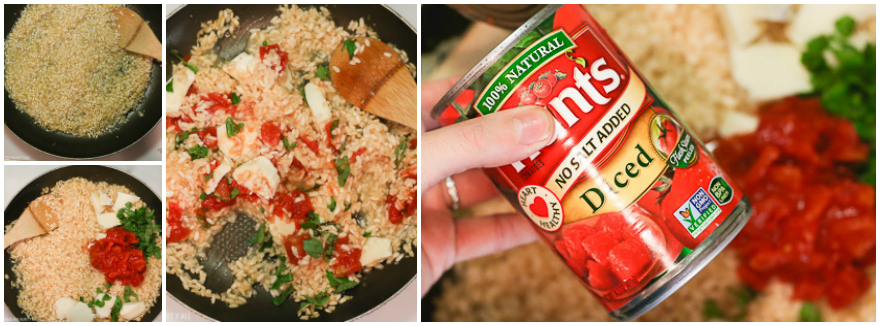 simple caprese risotto (gluten free, vegetarian, and heart healthy!)