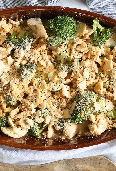 Skinny Gluten Free Chicken Poppy Seed Casserole