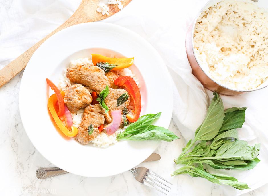 Thai Basil Pork Skillet