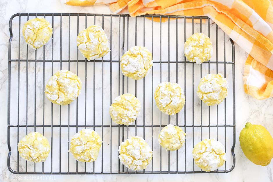 Lemon Crinkle Cookies {Gluten Free}
