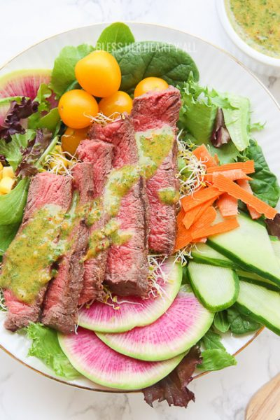 Spring Steak Salad with Chimichurri Dressing