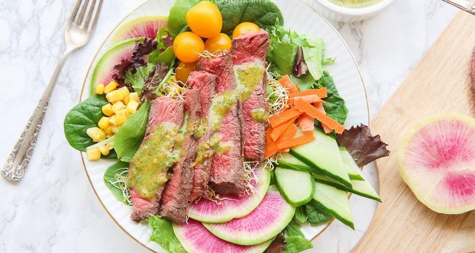 Spring Steak Salad with Chimichurri Dressing