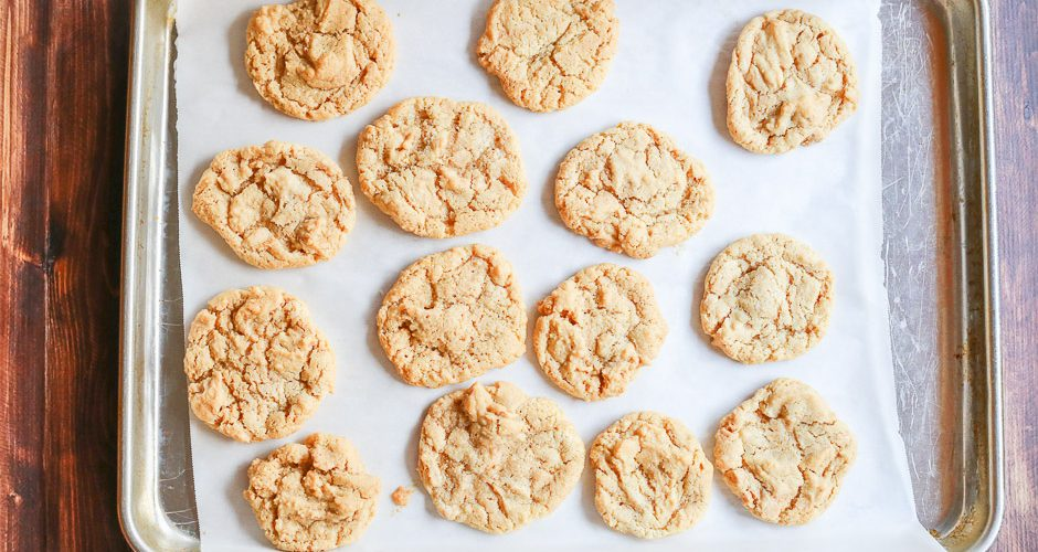 4-Ingredient Gluten Free Peanut Butter Cookies