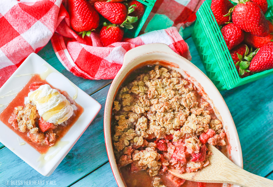 Strawberry Crumble {Gluten Free}