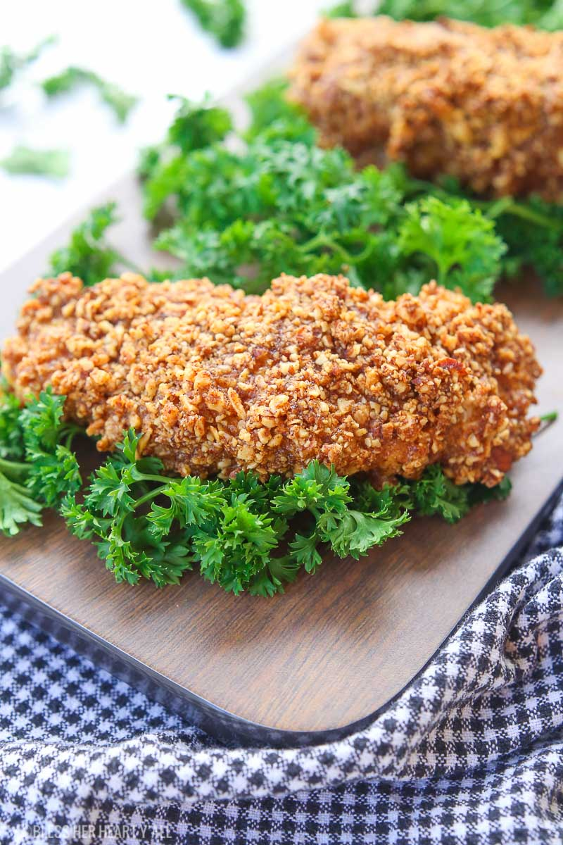 Almond crusted chicken tenders: gluten free, protein packed, and low carb! 3