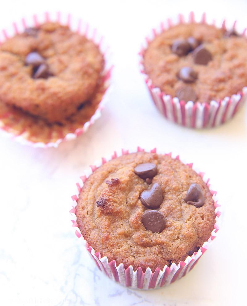chocolate chip muffin recipe gluten free dairy free image 3