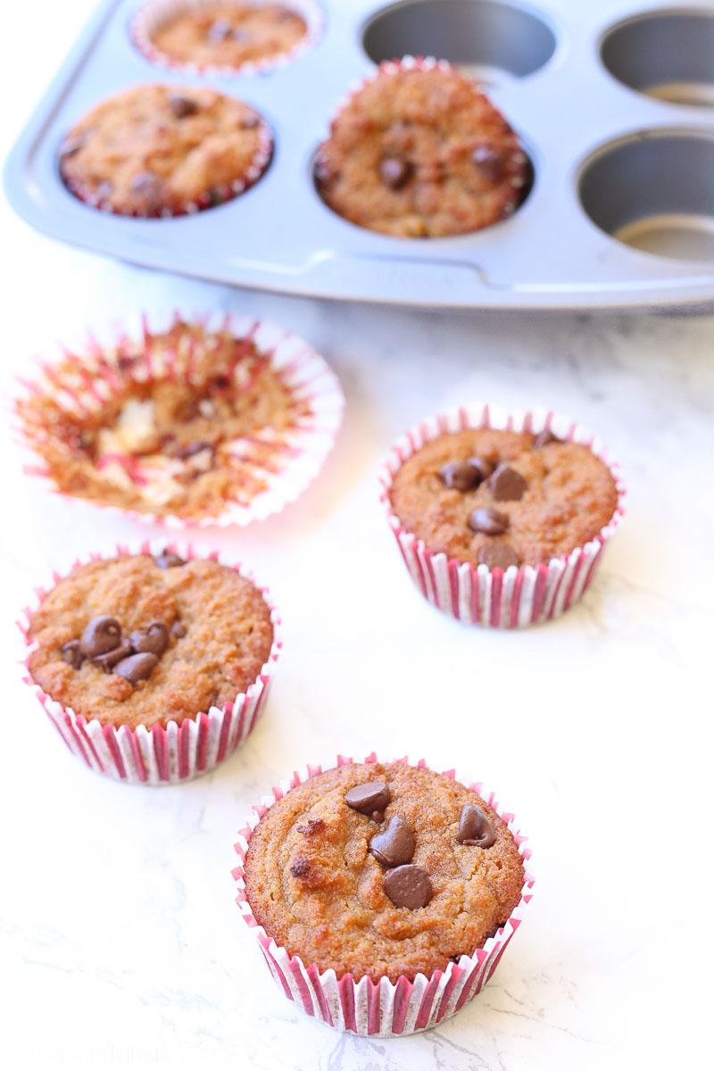 chocolate chip muffin recipe gluten free dairy free image 1