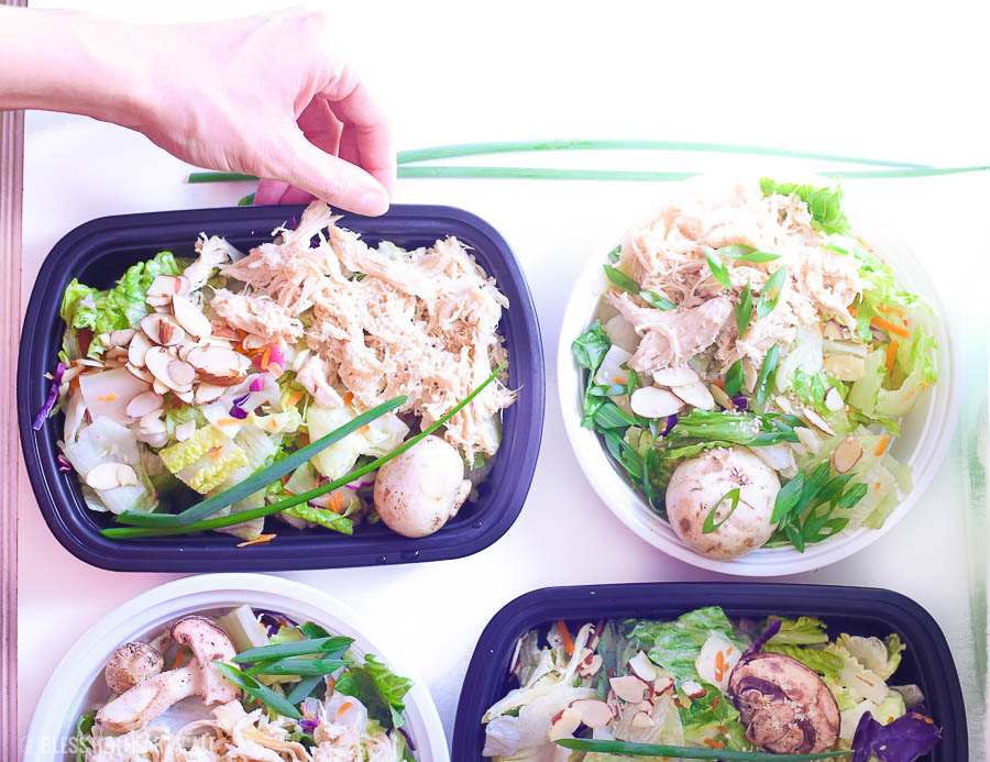 Sesame Ginger Chicken Chopped Salad is a healthy and easy meal prep recipe that the whole family will love. Sesame ginger marinated chicken breast is mixed with fresh chopped vegetables all topped with sesame seeds and homemade sesame ginger dressing. image 7