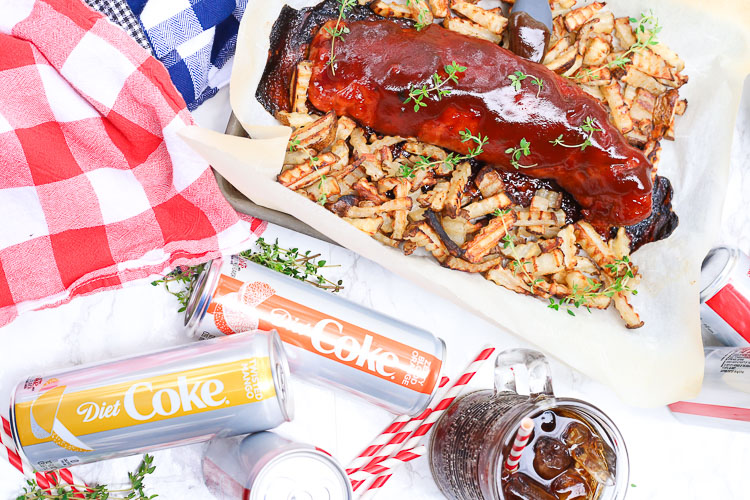 Easy BBQ thyme pork roast made with Diet Coke!