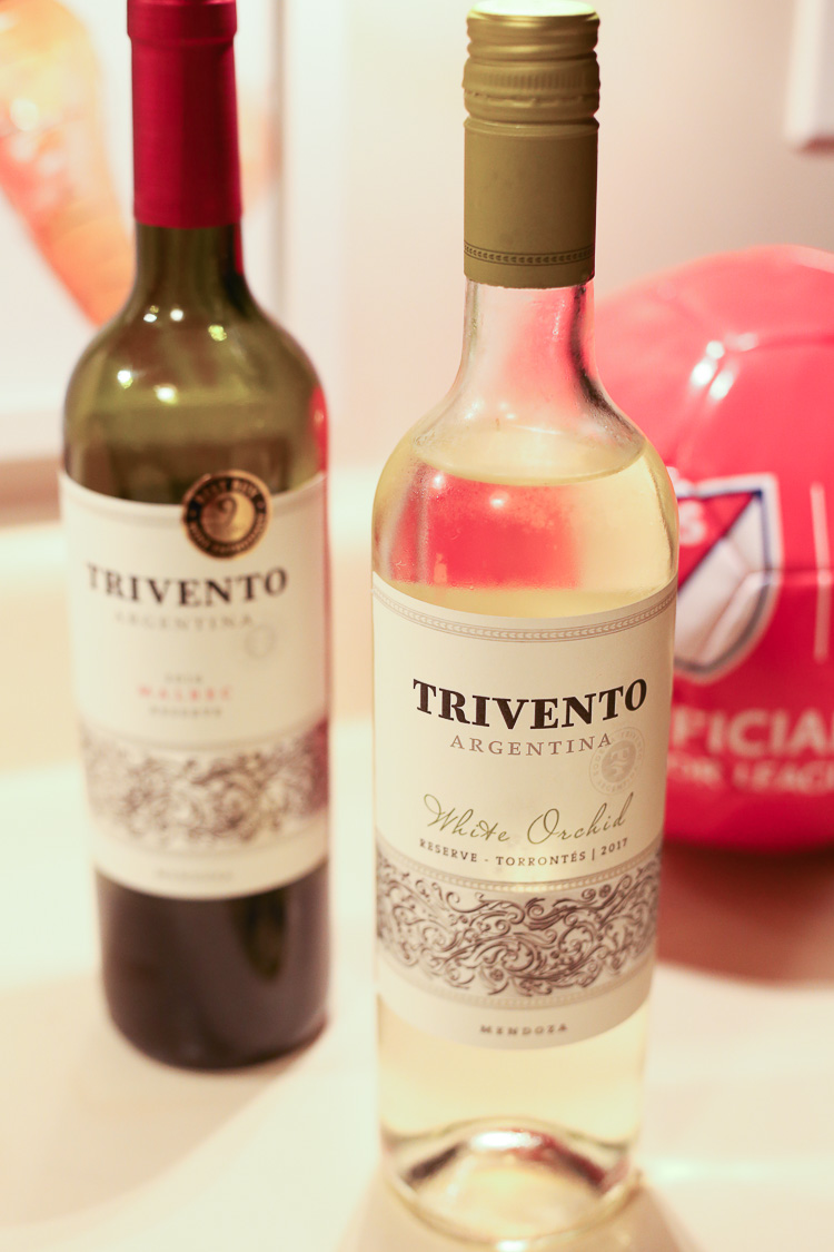 quick easy gluten free lettuce wraps for a great MLS game snack with Trivento wine!