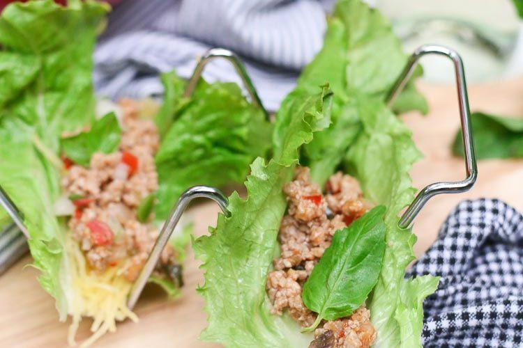 Quick Thai Basil Lettuce Wraps