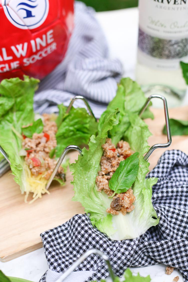 Quick Thai Basil Lettuce Wraps