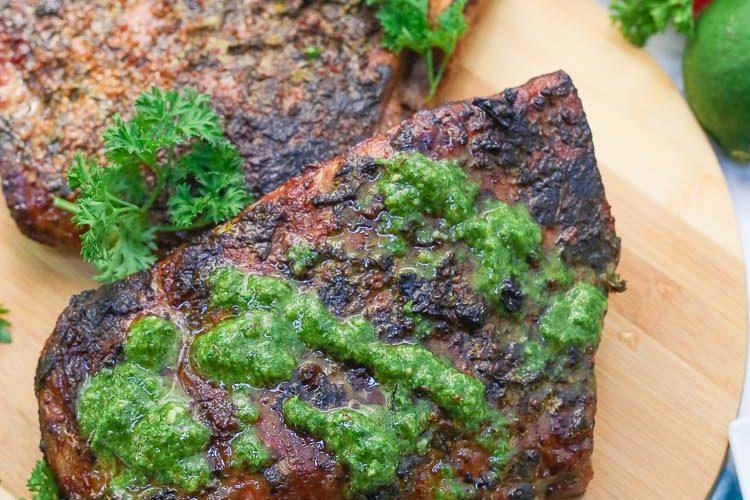 mojo chimichurri marinated grilled pork ribs recipe