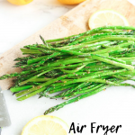 Air Fryer Asparagus is so easy to make with only 2-3 ingredients! Healthy, gluten-free, keto-friendly, low carb, paleo!