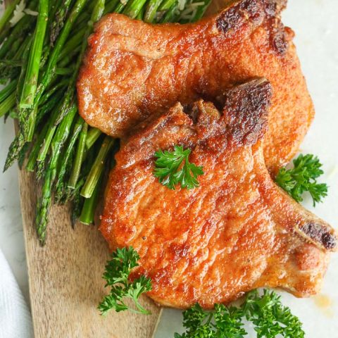 best Air fryer pork chops are so easy and gluten-free!