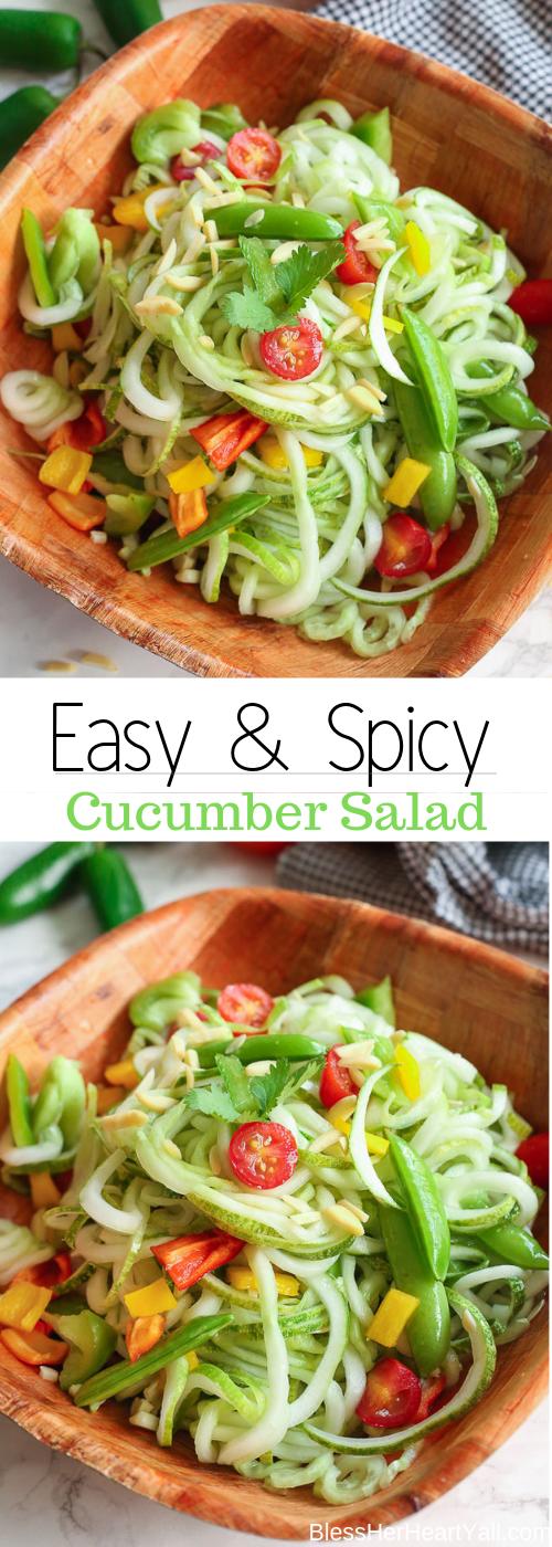 Spicy Cucumber Salad is easy & Gluten-Free!