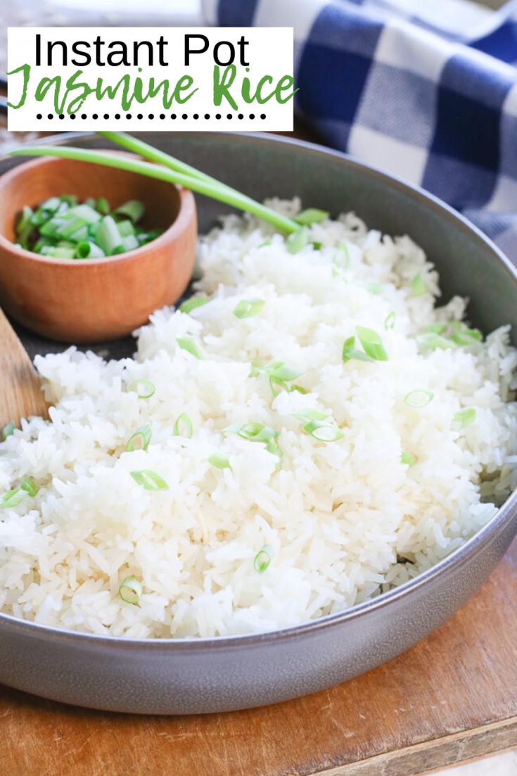 Instant Pot Jasmine Rice is the easiest and quickest way to make white rice in your kitchen!  This easy foolproof jasmine rice comes out of the pressure cooker perfectly fluffy every time for a quick side dish to any meal!