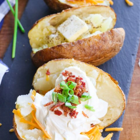 easy quick air fryer baked potato
