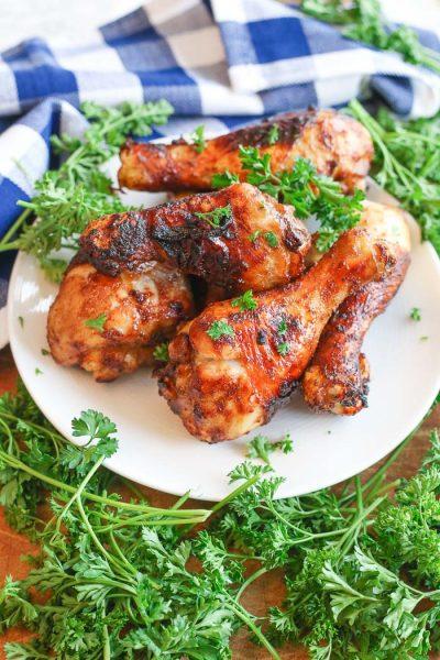 easy quick air fryer chicken legs drumsticks