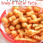 Air Fryer frozen french fries and tater tots pin