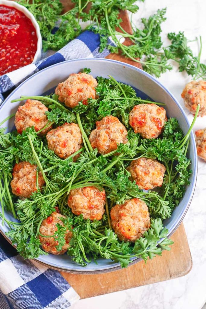 Gluten Free Cream Cheese Sausage Balls