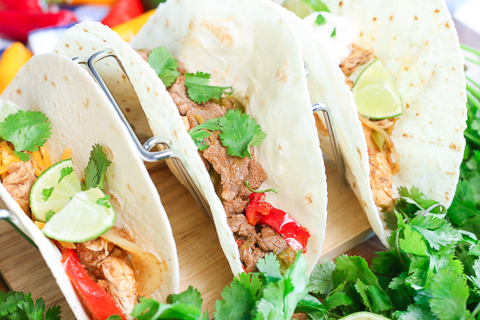 Easy Instant Pot Fajitas recipe that is quick and gluten-free!