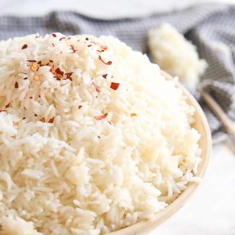 easy quick Instant Pot Basmati rice in pressure cooker