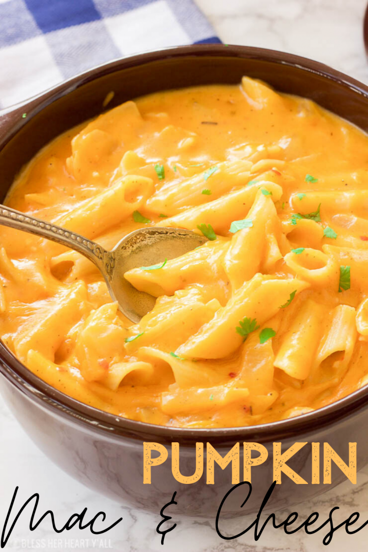 This gluten-free pumpkin mac and cheese recipe is the ultimate cheesy cool-weather comfort food. Gluten-free pasta are cooked in a pumpkin, sage, and nutmeg sauce and just before serving are smothered in gooey cheddar and parmesan cheeses.