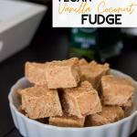 vegan fudge recipe pin is also gluten free, dairy free, paleo, and grain free!