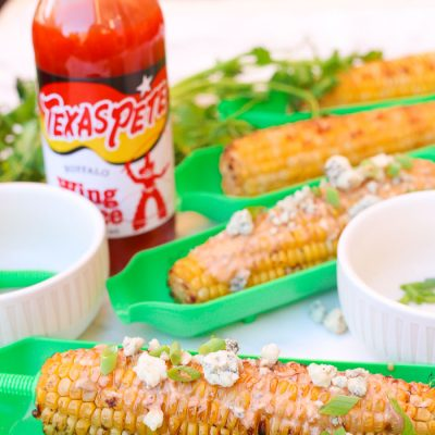 Buffalo Blue Cheese Corn on the Cob