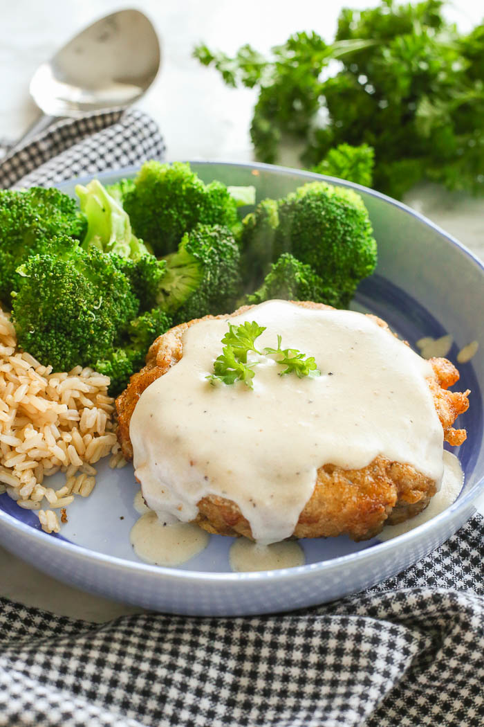 Gluten Free Chicken Fried Steak With Country Gravy
