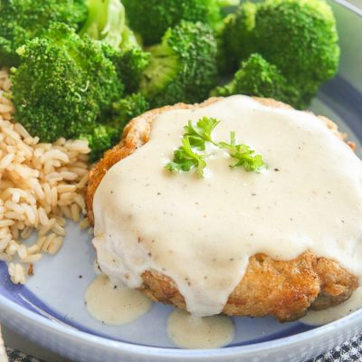 Gluten-Free Chicken Fried Steak with Country Gravy
