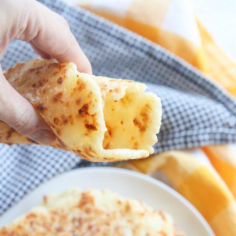 Parmesan Gluten-Free Tortilla Wraps