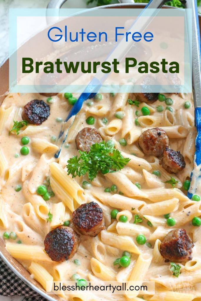 Easy & Gluten Free Bratwurst Pasta