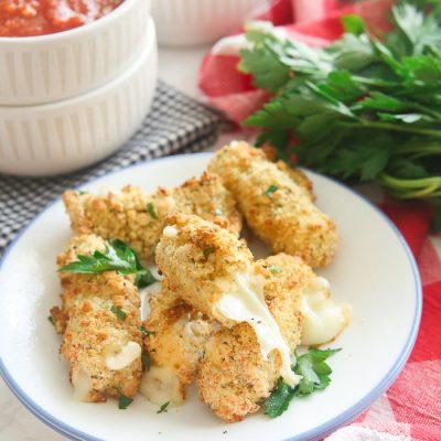 Gluten-Free Mozzarella Sticks in Air Fryer or Oven