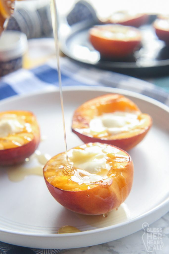 Gluten Free Grilled Peaches and Cream