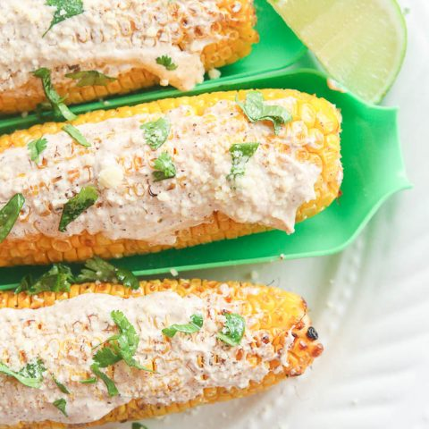 Skinny Mexican Grilled Corn