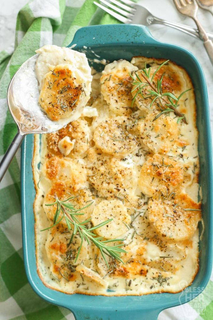Serving Gluten Free Scalloped Potatoes