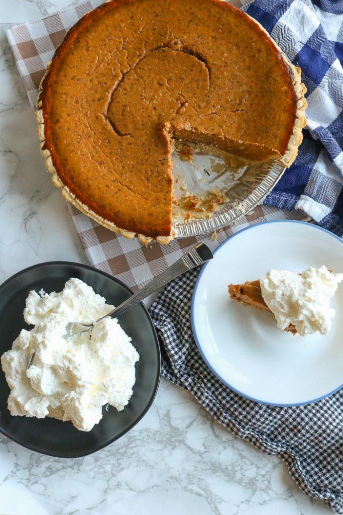 Serving Gluten Free Pumpkin Pie