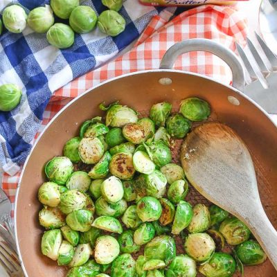 Peppered Garlic Butter Brussel Sprouts