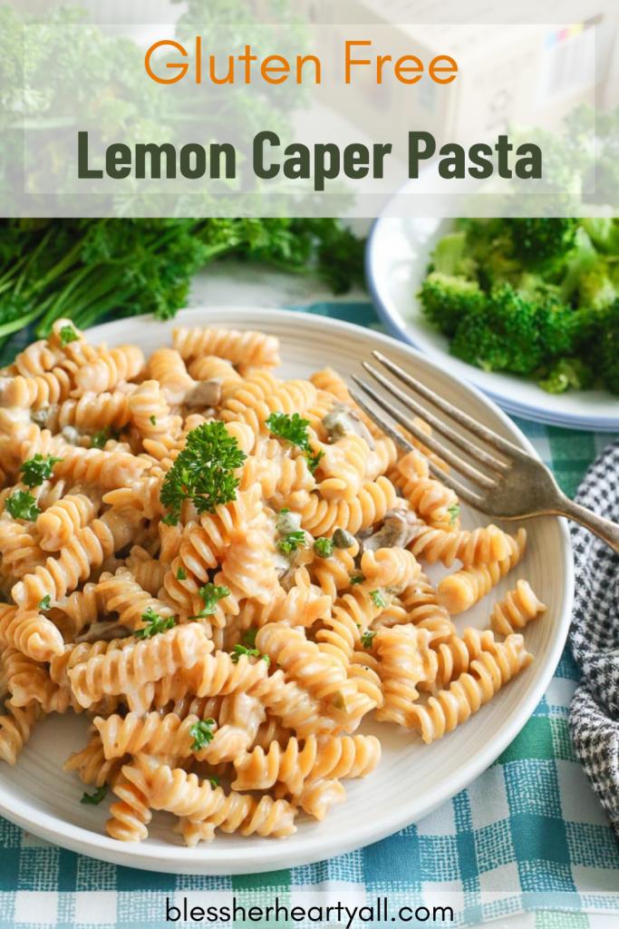 Gluten Free Lemon Caper Pasta
